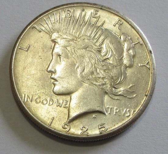 $1 HIGH GRADE 1925-S PEACE SILVER DOLLAR
