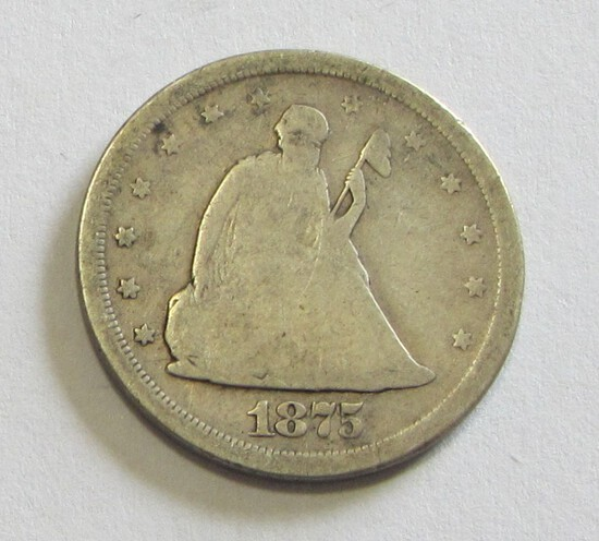 1875-S SEATED 20 CENT PIECE