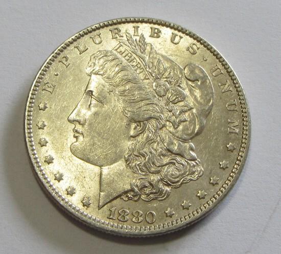 $1 1880-O MORGAN SILVER DOLLAR