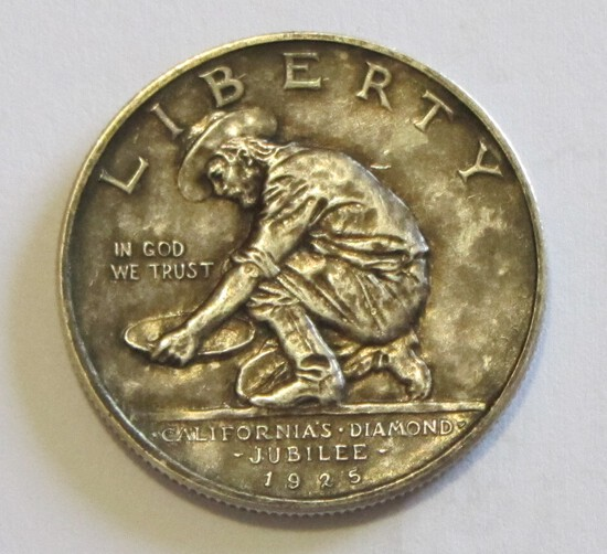 CALIFORNIA JUBILEE 1925-S SILVER COMMEMORATIVE