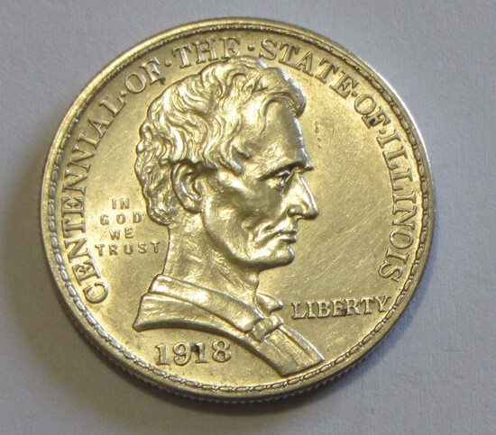 1918 LINCOLN COMMEMORATIVE HALF