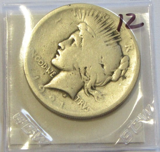 KEY $1 1921 PEACE DOLLAR