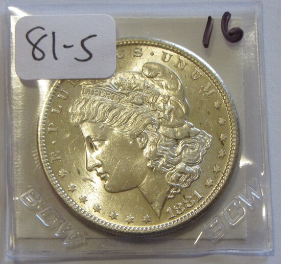 $1 1881-S BRILLIANT UNCIRCULATED MORGAN