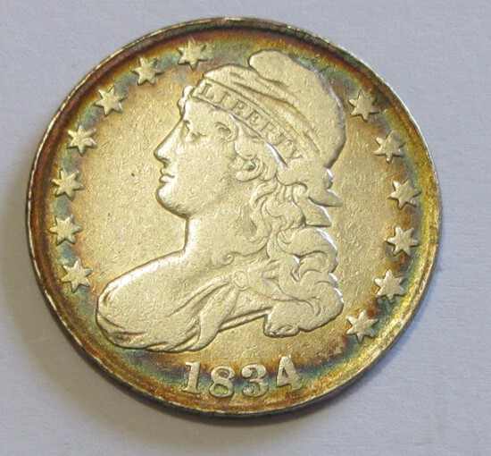 1834 CAPPED BUST HALF