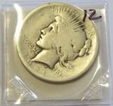 KEY $1 1921 PEACE DOLLAR