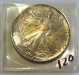 1986 - 1St Year American Eagle Silver Dollar BU - Gorgeous Toning