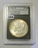 1886 P Morgan Dollar SGS MS62 - Pretty Toning
