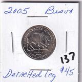 2005 Jefferson Nickel/Bison - Detached Leg