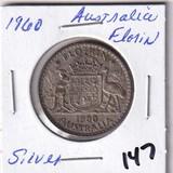 1960 Silver Australia Florin