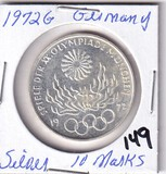1972G Silver Olympics Germany Proof 10 Marks