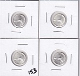 Lot of 4 - 2015 Mexico Libertad1/20.999 Silver UNC Coins