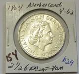 1964 Silver Netherland 2 1/2 G BU