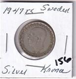 1947 Silver Sweden Krona