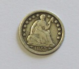 1853 SEATED HALF DIME