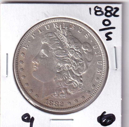 $1 1882- O/S MORGAN