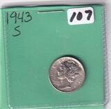 1943-S DIME