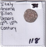 ITALY SILVER ANCIENT 13TH CENTURY BILLION
