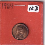 1934 WHEAT RED UNC CENT