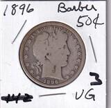 1896 BARBER HALF