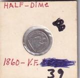 1860 SEATED HALF DIME