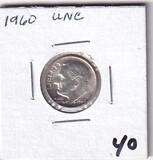 1960 UNC DIME