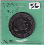 1892 COLUMBIAN HALF