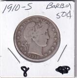 1910-S BARBER HALF