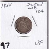 1884 SEATED DIME