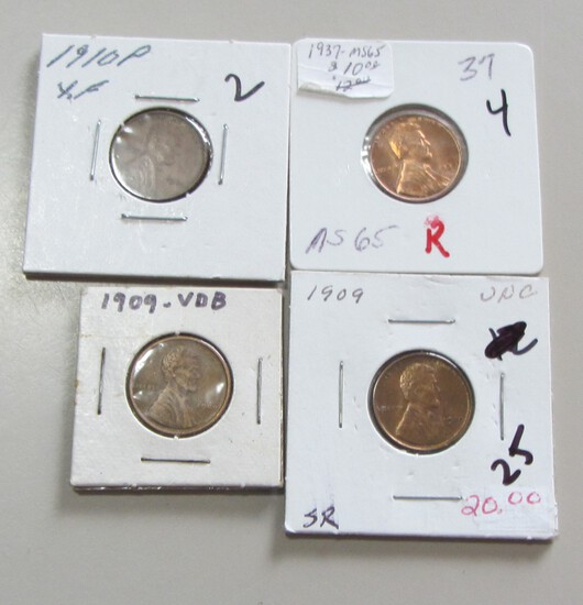 EARLY WHEAT CENT LOT