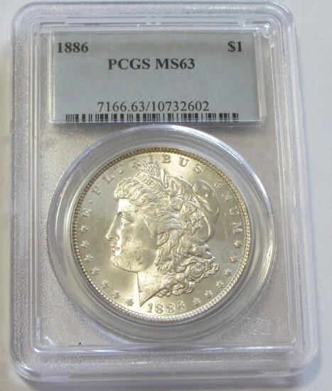 $1 1886 MORGAN PCGS 63