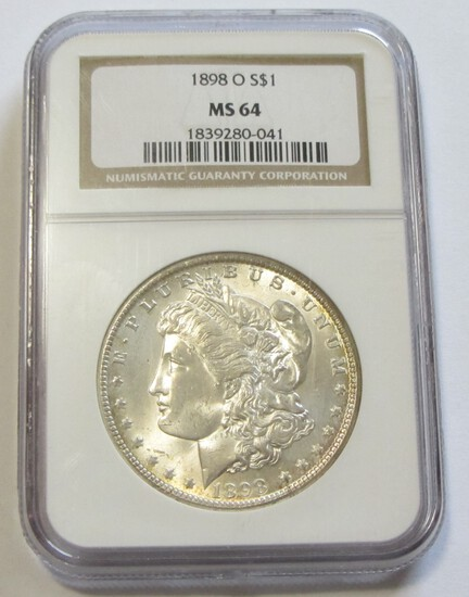 $1 1898-O MORGAN NGC 64 THIS IS JUST A REALLY NICE COIN