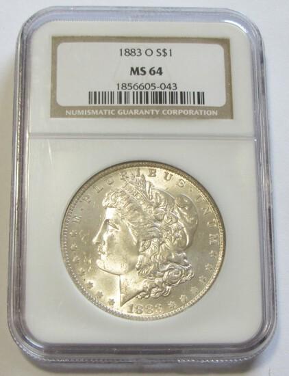 $1 1883-O MORGAN NGC 64