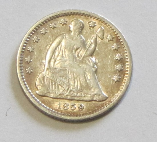 1859-O SEATED HALF DIME JUST A SUPER COIN