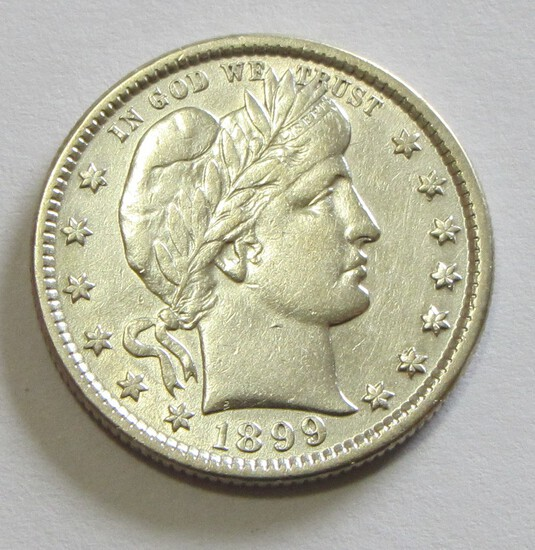 1899 BARBER QUARTER HIGH GRADE