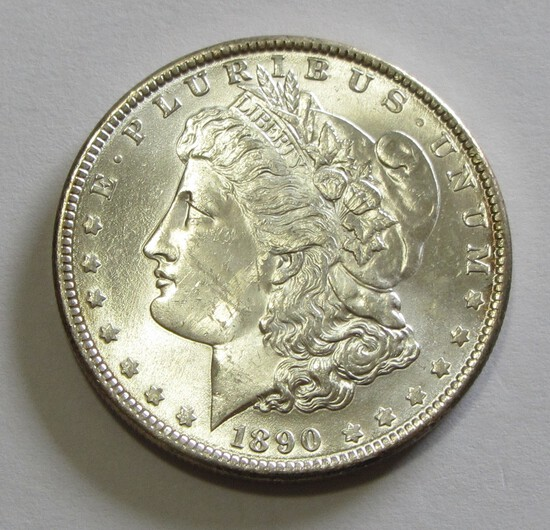 BU $1 1890 MORGAN FULL OF LUSTER