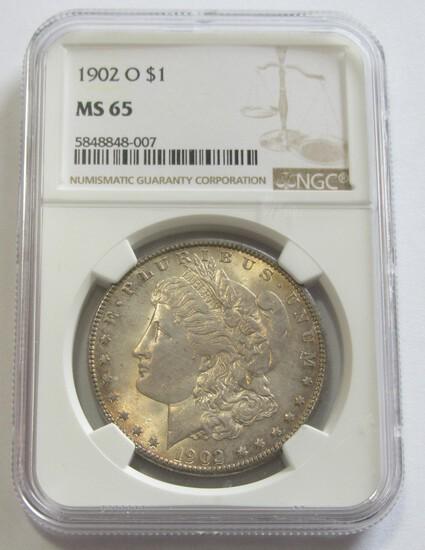 $1 1902-O GEM NGC MS 65