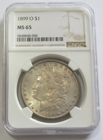 $1 1899 O MORGAN NGC MS 65