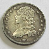1831 CAPPED BUST QUARTER REVERSE SCRATCHES