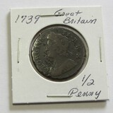 1739 Great Britain 1/2 Penny
