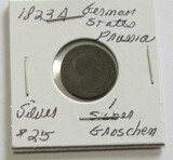 1823A Silver German States Prussia 1 Silber Groschen