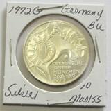 1972G Silver Germany 10 Marks BU