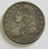 1832 CAPPED BUST HALF