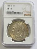 $1 1885-O MORGAN NGC 64