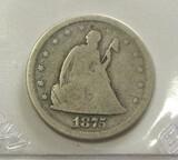 1875-S 20 CENT PIECE TOUGH COIN