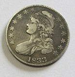 1833 CAPPED BUST HALF