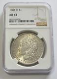 $1 1904-O MORGAN NGC 64