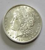 BU $1 1897 MORGAN