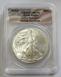 2010 American Silver Eagle ANACS MS70