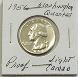 1956 Washington Silver Proof Quarter Light Cameo BU