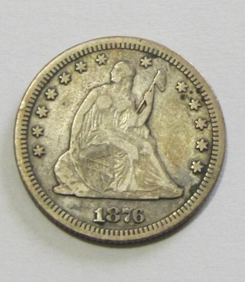 1876 CC CARSON CITY SEATED QUARTER